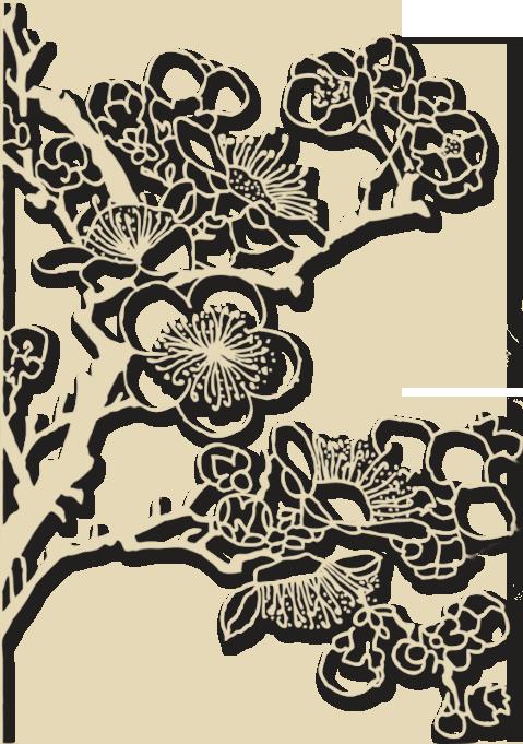fleurs stylisees