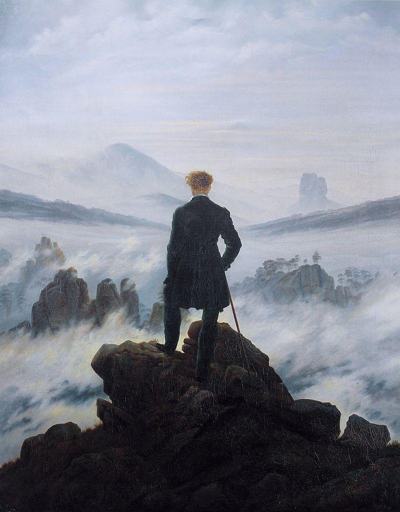 Voyageur au-dessus d'une mer de nuages